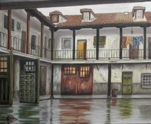 """""""Aranjuez, más que un palacio"""" Técnica: Óleo sobre lienzo Medidas. 55x46"""