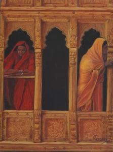 """""""Colores de la India"""" Técnica: Óleo sobre lienzo Medidas: 61x46"""