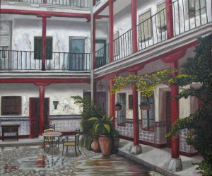 """Corrala de Aranjuez"" VENDIDO Técnica: óleo sobre lienzo Medidas: 55x46"