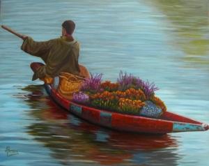 """Flores para alguien"" Técnica: óleo sobre lienzo Medidas:100x81"