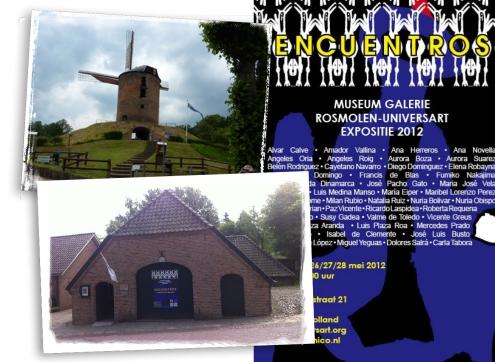 Exposición en un antiguo molino en Holanda