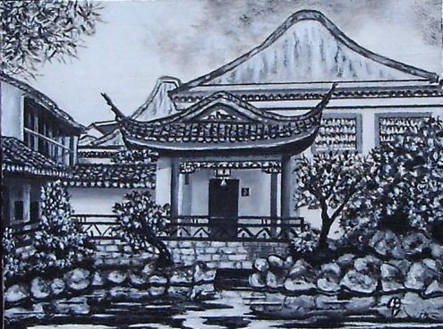 """""""Inmensidad de China"""" VENDIDO Técnica: Acrílico sobre tabla Medidas: 16x21"""