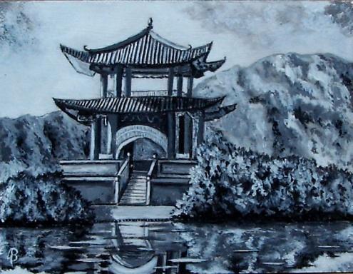 """Viaje familiar a China"" VENDIDO Técnica: Acrílico sobre tabla Medidas: 16x21"