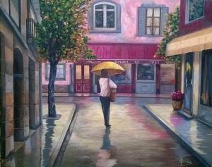 """Aquel otoño en París"" Técnica: Óleo sobre lienzo Medidas: 81x65cm"