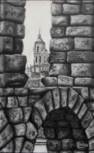 """Segovia, un tesoro"" VENDIDO Técnica: Acrílico sobre tabla Medidas: 45x35"