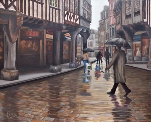 """""""Calle medieval en Bretaña"""""""